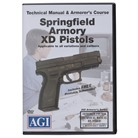 SPRINGFIELD XD PISTOLS TECHNICAL <b>MANUAL</b> AND ARMORER&#39;S COURSE DVD