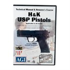 H&K USP PISTOLS TECHNICAL <b>MANUAL</b> & ARMORER&#39;S COURSE DVD