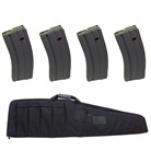 "38"" TACTICAL WEAPONS CASE w/ 4 BROWNELLS 30-ROUND CS MAGAZINES"