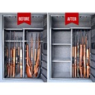 GUN ORGANIZING RIFLE RODS