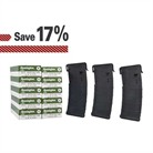 AR-15 200 ROUNDS AMMO & THREE 30-ROUND PMAGS