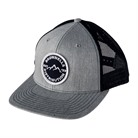 RICHARDSON SNAPBACK TRUCKER CAP HEATHER GRAY/NAVY MESH