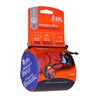 SOL EMERGENCY BIVVY WITH RESCUE WHISTLE ORANGE