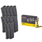 X-TAC 5.56 NATO 55GR FMJ 1000RD CASE WITH 10X PMAGS