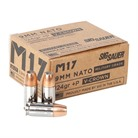 MILITARY GRADE M17 9MM LUGER +P JACKETED HOLLOW POINT AMMO
