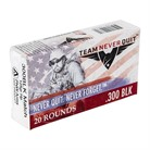 RIFLE AMMO 300 AAC BLACKOUT 125GR HPBT