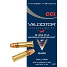 VELOCITOR HYPERVELOCITY AMMO 22 LONG RIFLE 40GR HOLLOW POINT