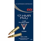 FMJ AMMO 17 HMR 20GR FULL METAL JACKET