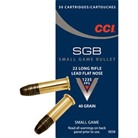 SMALL GAME <b>BULLET</b> AMMO 22 LONG RIFLE 40GR LEAD FLAT NOSE
