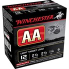 "AA LIGHT TARGET AMMO 12 GAUGE 2-3/4"" 1-1/8 OZ #9 SHOT"