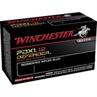 "PDX1 DEFENDER AMMO 12 GAUGE 2-3/4"" RIFLED SLUG #00 SHOT"