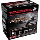 "SUPER PHEASANT AMMO 12 GAUGE 2-3/4"" 1-3/8 OZ #4 SHOT"