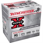 "SUPER-X HIGH BRASS AMMO 16 GAUGE 2-3/4"" 1-1/8 OZ #7.5 SHOT"