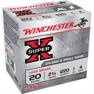 "SUPER-X HIGH BRASS AMMO 20 GAUGE 2-3/4"" 1 OZ #4 SHOT"