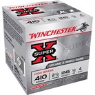 "SUPER-X HIGH BRASS AMMO 410 BORE 2-1/2"" 1/2 OZ #4 SHOT"
