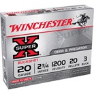"SUPER-X BUCKSHOT AMMO 20 GAUGE 2-3/4"" #3 SHOT"