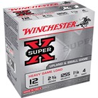 "SUPER-X HEAVY GAME LOAD AMMO 12 GAUGE 2-3/4"" 1-1/8 OZ #4 SHOT"