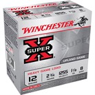 "SUPER-X HEAVY GAME LOAD AMMO 12 GAUGE 2-3/4"" 1-1/8 OZ #8 SHOT"