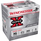 "SUPER-X HEAVY GAME LOAD AMMO 16 GAUGE 2-3/4"" 1 OZ #8 SHOT"