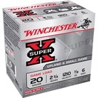 "SUPER-X HEAVY GAME LOAD AMMO 20 GAUGE 2-3/4"" 7/8 OZ #6 SHOT"