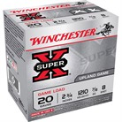 "SUPER-X HEAVY GAME LOAD AMMO 20 GAUGE 2-3/4"" 7/8 OZ #8 SHOT"