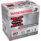 "SUPER-X HEAVY GAME LOAD AMMO 20 GAUGE 2-3/4"" 1 OZ #6 SHOT"