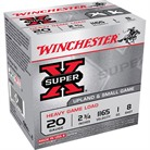 "SUPER-X HEAVY GAME LOAD AMMO 20 GAUGE 2-3/4"" 1 OZ #8 SHOT"