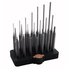 21 PIECE STEEL PUNCH SET W/ BENCH BLOCK