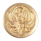 PISTOL GRIP CAP MEDALLION-BRASS, BLUE