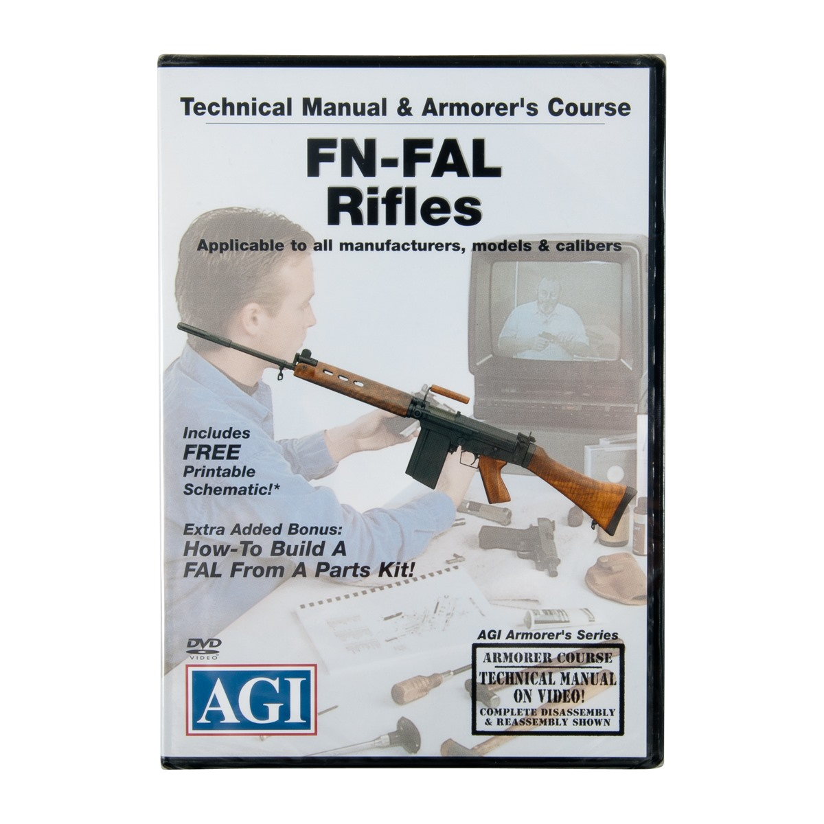 Agi Fn Fal Rifles Technical Manual And Armorers Course Dvd Brownells Spray Tool Work Bench Part Diagram Mosin Nagant Rifle Gun Mat Ebay Back