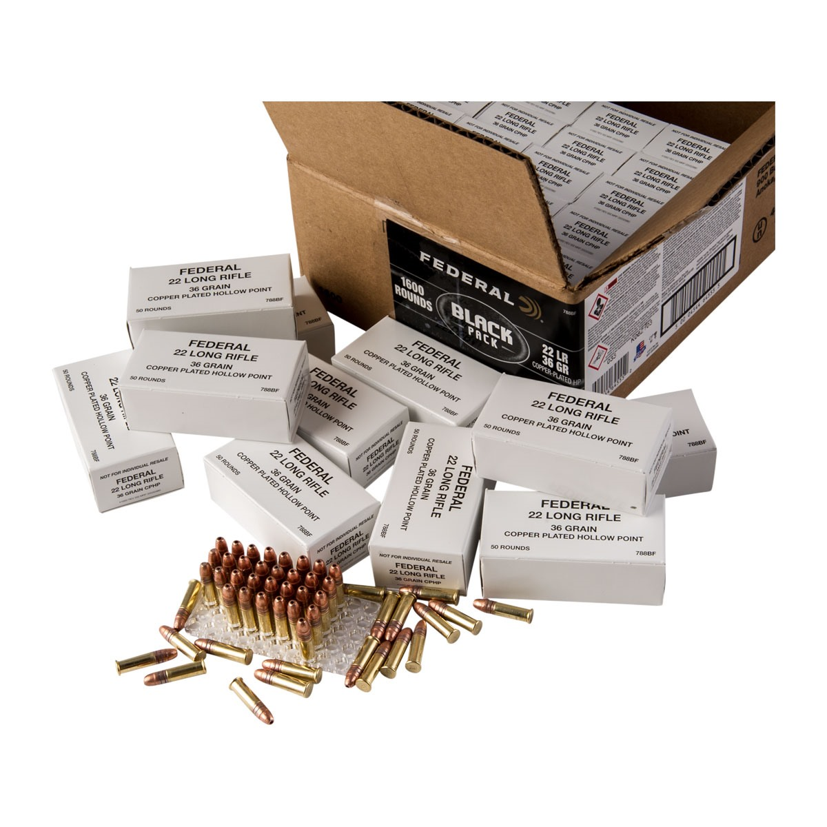 federal black label 22 long rifle ammo brownells