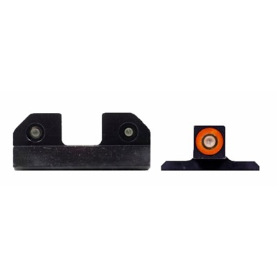 Xs Sight Systems Ram Night Sights For Smith & Wesson - Ram Night Sights Orange S&W M&P & M2.0 Full Size & Compact