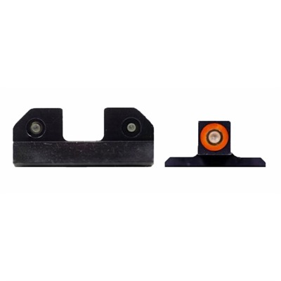Xs Sight Systems Ram Night Sights For Smith & Wesson - Ram Night Sights Orange S&W M&P & M2.0 Shield