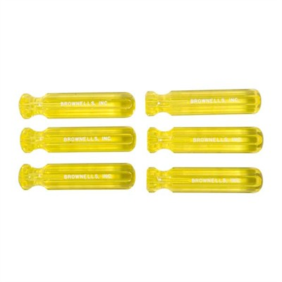 Brownells Molded Plastic Tool Handles - 6, Yellow L1 Model