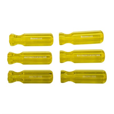 Brownells Molded Plastic Tool Handles - 6, Yellow L4 Model
