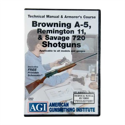 Agi Browning A-5,Remington 11 & Savage 720 Manual & Armorer's Dvd