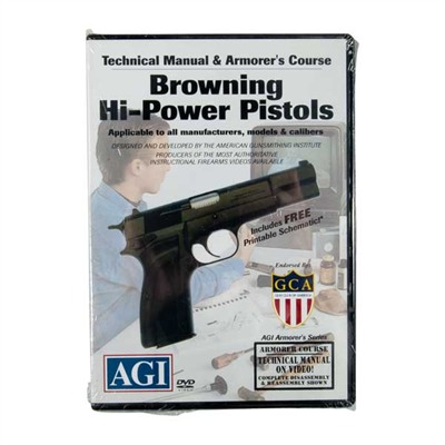 Browning Hi-Power Pistols Technical Manual & Armorer's Course Dvd - Browning Hi-Power Pistols Manual