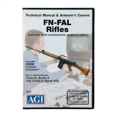 American Gunsmithing Institute Rifle Disassembly Videos - Fn-Fal, 128 Min, Dvd