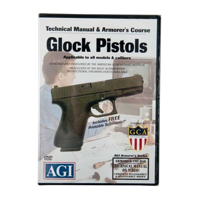 Agi Glock~ 17,19,21 & 23 Pistols Technical Manual & Armorer's Dvd