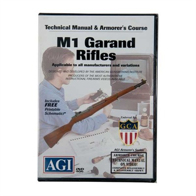 Agi M1 Garand/M1a Rifles Technical Manual And Armorer's Course Dvd
