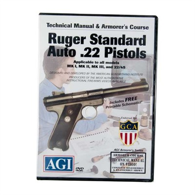 Agi Ruger~ Mki~ Technical Manual And Armorer's Course Dvd