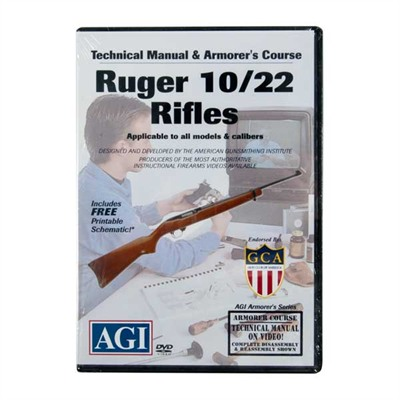 Agi Ruger 10/22 Rifle Technical Manual And Armorer's Course Dvd - Ruger 10/22 Technical Manual And Armorer's Course Dvd