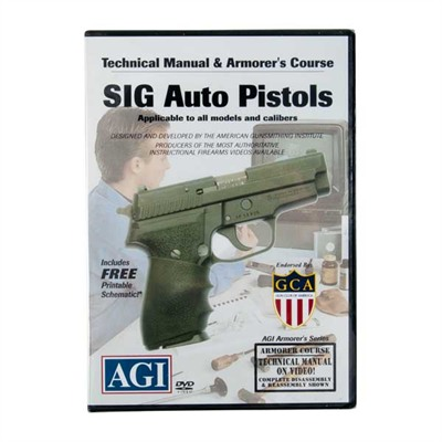Sig Sauer Pistols Technical Manual And Armorer's Course Dvd