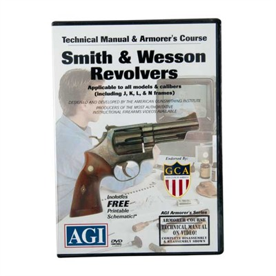 Agi S&W Revolvers Technical Manual And Armorer's Course Dvd