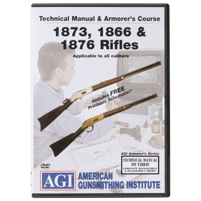 Agi Winchester 1866/1873/1876 Rifles Technical Manual & Armorer's Dvd - Winchester 1866/1873/1876 Technical Manual & Armorer's Dvd