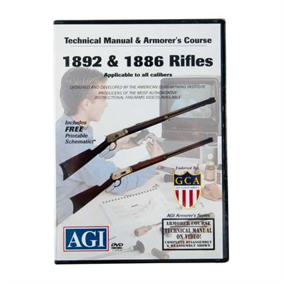 Agi Winchester 1886/1892 Rifles Technical Manual & Armorer's Dvd