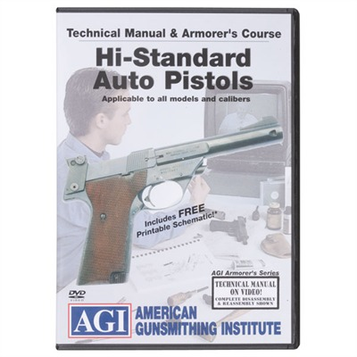 Agi Hi-Standard Pistol Technical Manual And Armorer's Course Dvd