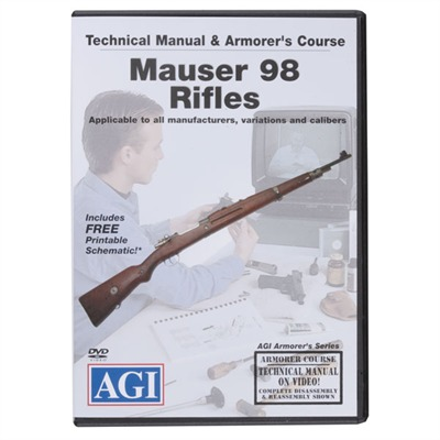 Agi Mauser 98 Rifles Technical Manual And Armorer's Course Dvd