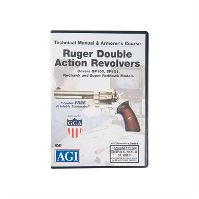 Agi Ruger~ Double Action Revolvers Technical Manual & Course Dvd