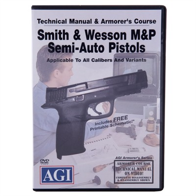 Agi S&W M&P 1st, 2nd And 3rd Gen Pistols Manual & Armorer's Dvd - S&W M&P 1st/2nd/3rd Gen Pistols Manual & Armorer's Dvd